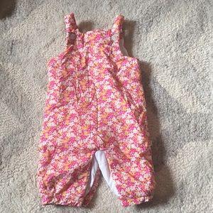 Pink liberty print Jacadi overalls